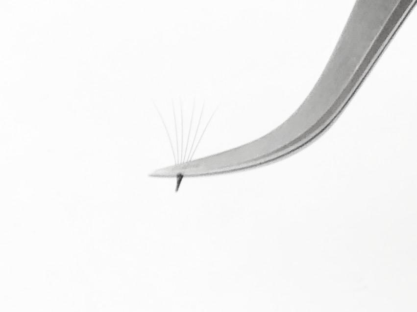 JuLash Pincett - Silver Böjd Volympincett