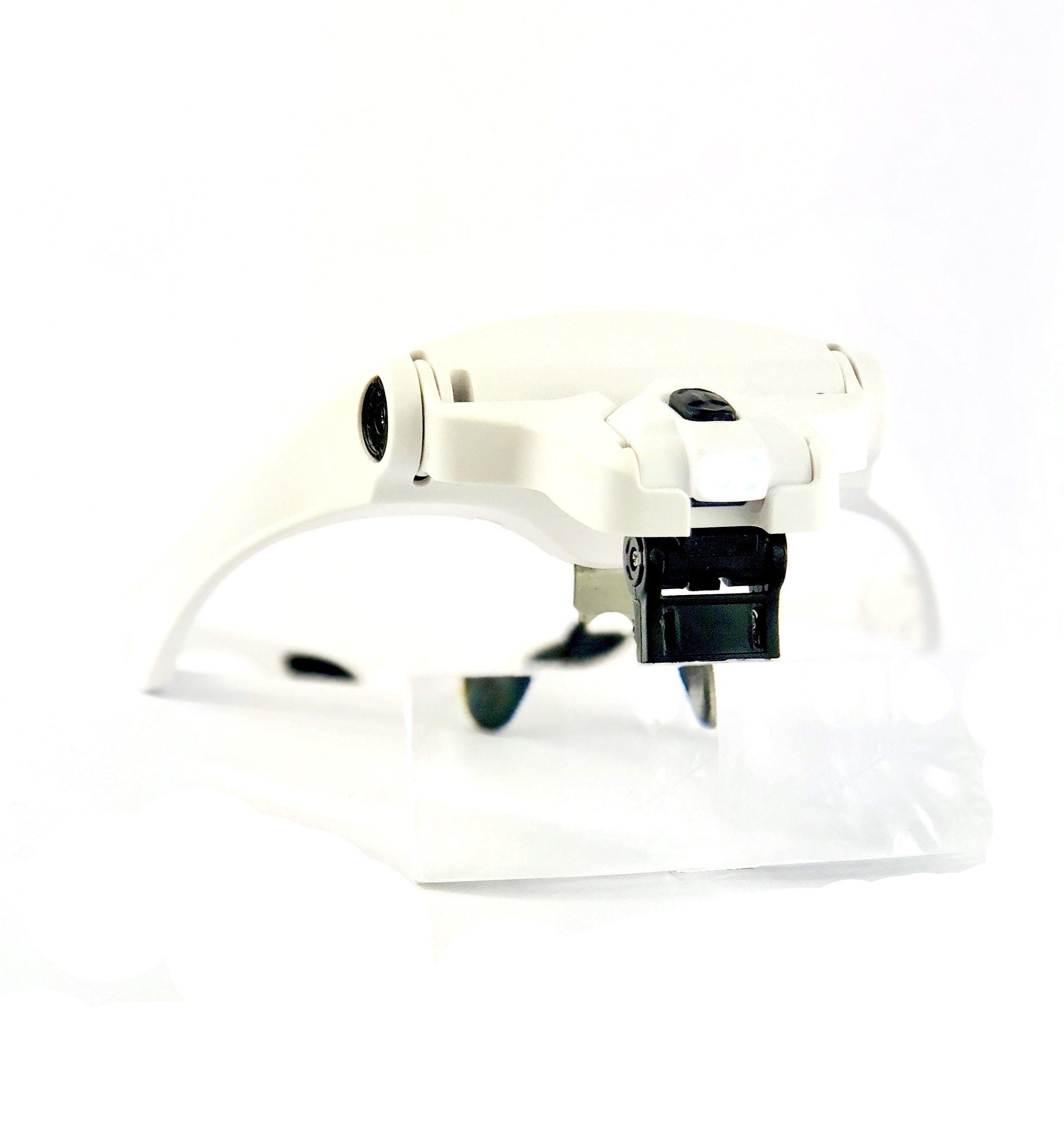 Förstoringsglasögon med 5 linser & LED-belysning