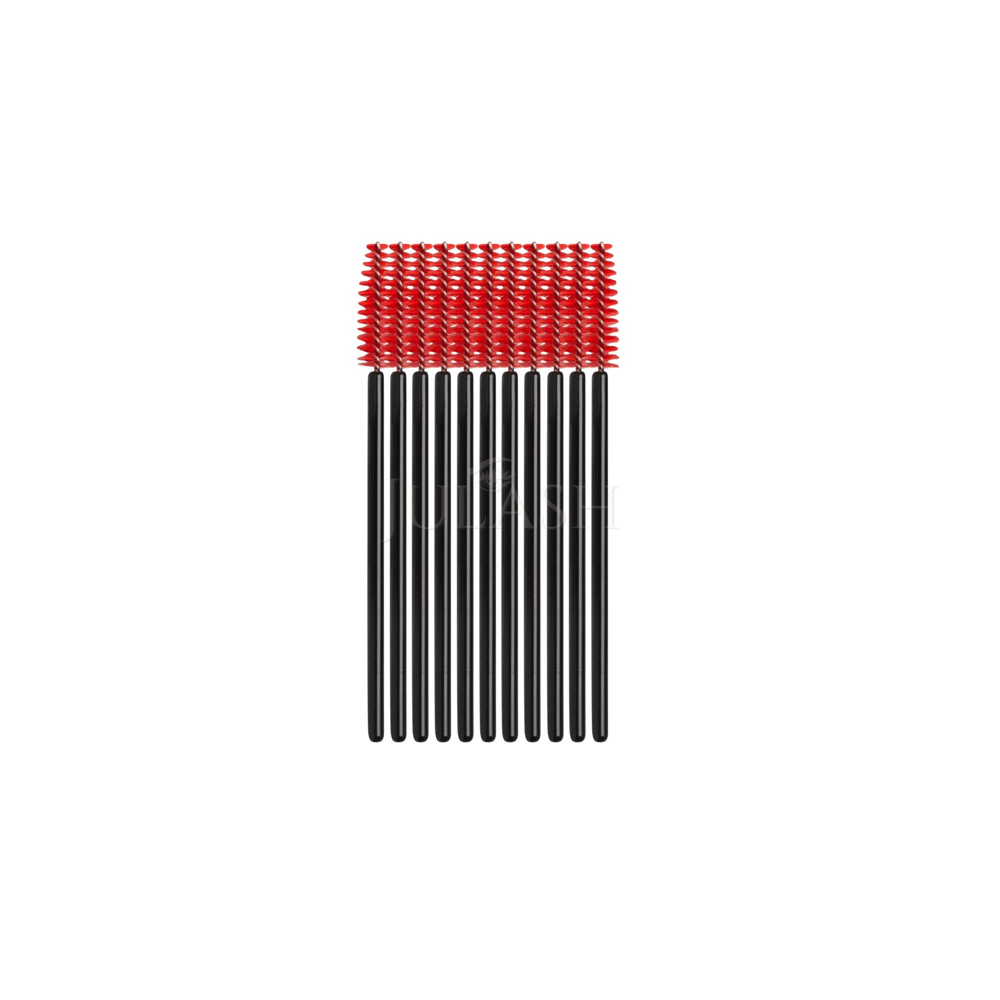 Mascaraborste Fransborstar Silikon Röd